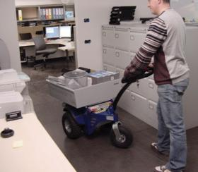 Zallys M9 Electric cart puller for moving materials within offices