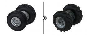 Differenza prezzo per cambio ruote da standard a tractor (2 ruote)