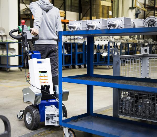 Zallys M1 cart mover for handling trolleys in mechanical companies