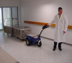 Zallys M9 Electric cart puller for towing trolleys in hospitals