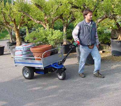 Zallys HT Electric platform trolley for transporting plants in greenhouses