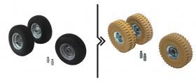 Differenza prezzo  per cambio ruote da standard a superelastiche antitraccia (3 ruote)