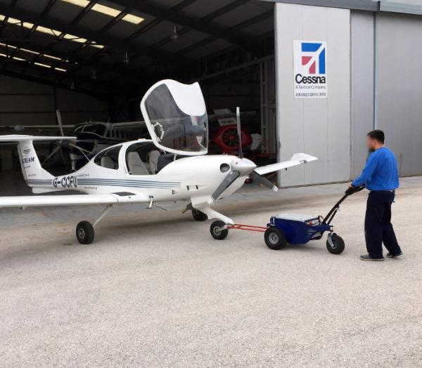 Zallys M9 Electric cart puller for moving touring aircraft at airports