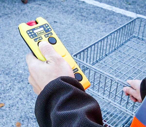 Zallys M9 electric cart pusher with remote control for moving supermaket trolleys