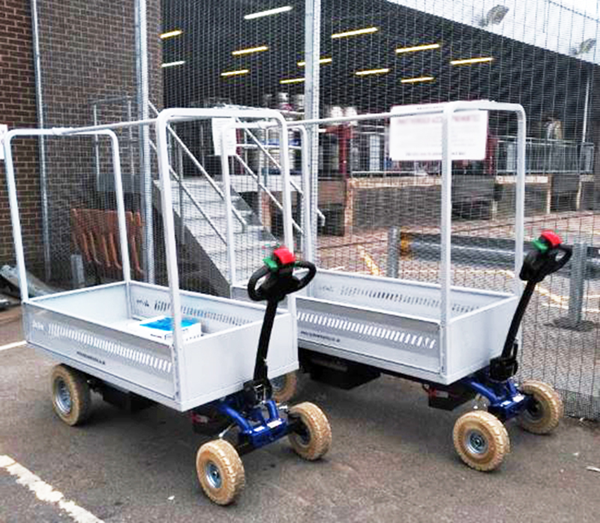Zallys Jespi L electric drive vehicle for transporting goods at airports