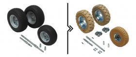 Differenza prezzo per semiassi rinforzati e cambio ruote da standard a superelastiche antitraccia (3 ruote, mozzo Ø25)