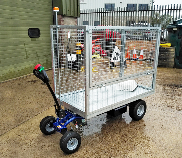 Zallys Jespi L electric traction trolley for transporting goods on construction sites