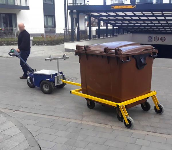 Zallys M9 Electric cart puller for moving wheelie bins in hotels areas