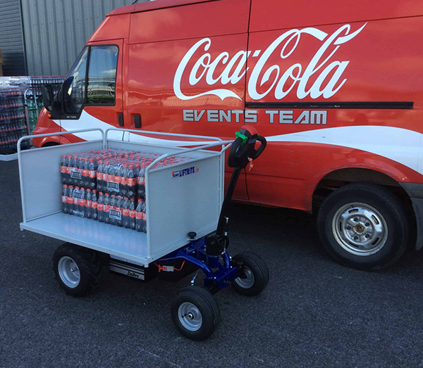 Zallys Jespi electric traction trolley to carry drinks during public events