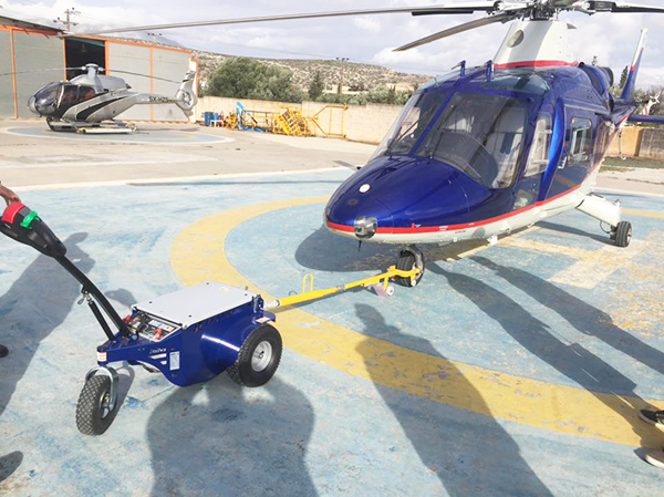 Zallys M9 Electric cart puller for moving helicopters at airports