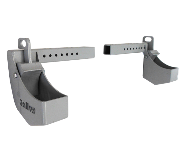 Pair of trolleys hitch holder - for wheels  Ø100/125 x 62 mm
